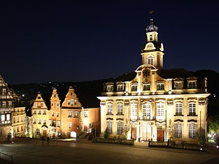 Town hall by night