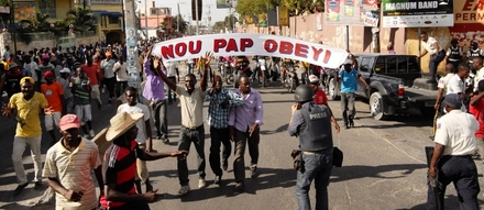Documentation of political protests in Haiti from the episode