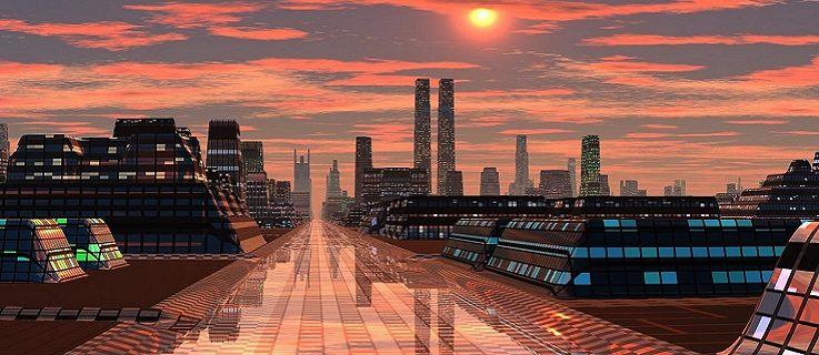 Illustration: The Maglev Road, Autor: Serendigity