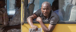 Matatu in Nairobi, symbol for the informal Nairobi