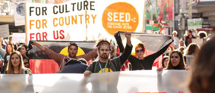 Seed beim People's Climate March im November 2015 in Melbourne.