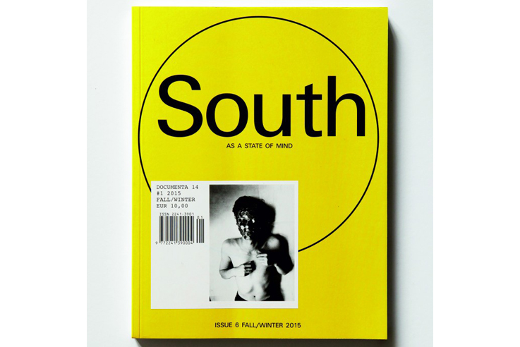 cover of the magazine south as a state of mind, publication founded by marina fokidis and now functioning as the journal for documenta 14