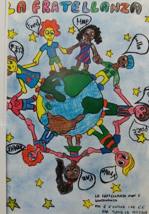 Drawing by the students of the Scuola Primaria Mancini
