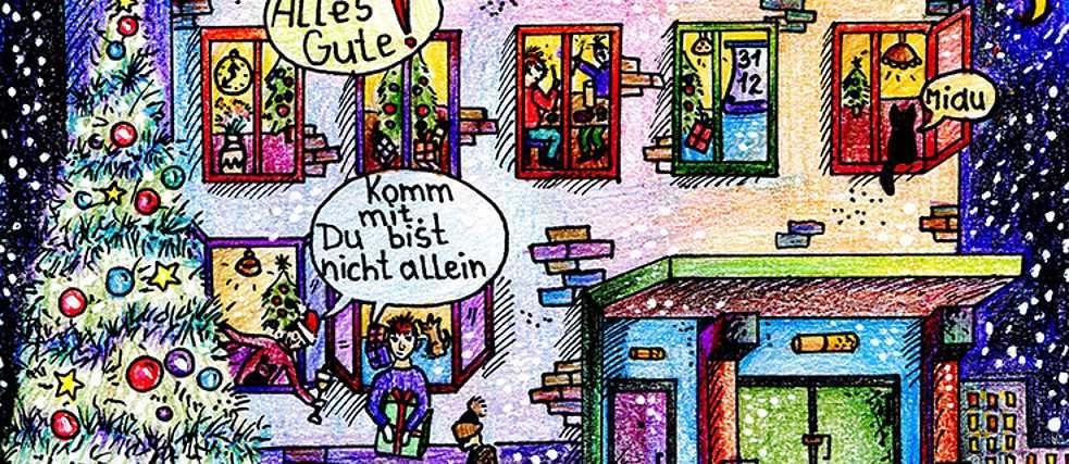 Weihnachtskarten Comic.2015 Weihnachtskarten Wettbewerb Goethe Institut Belarus