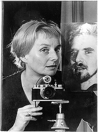 Leonore Mau | Self-protrait with Photo of Hubert Fichte, 1962