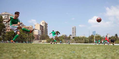 Football is a chance for young Palestinians.