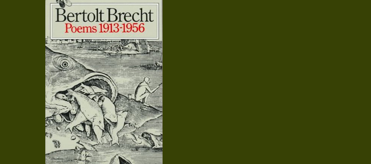 Bertolt Brecht Poems 1913–1956 - by B. Brecht; Theatre Arts Book, 1997
