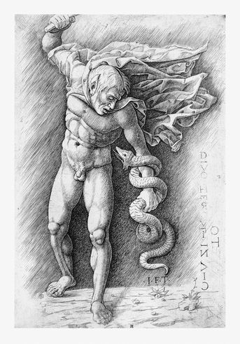Faun, fighting a snake, School Andrea Mantegna, about 1490–1550