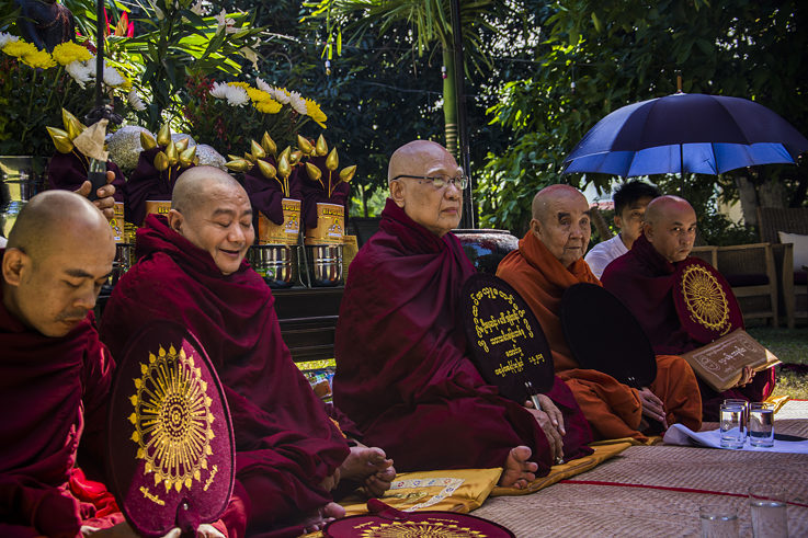 Ceremony with monks