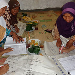 Budget and expenditures of a village (APB Desa) for strengthening the role of women