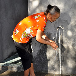 Use of funds for providing clean drinking water and sanitation facilities (PAMSIMAS)