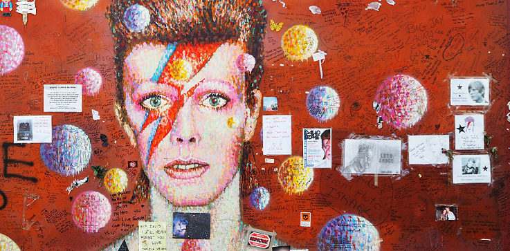 David Bowie graffiti by Jimmy C