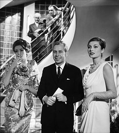 Heinrich von der Becke: Uli Richter with the Models Gisela Ebel and Gitta Schilling 1959