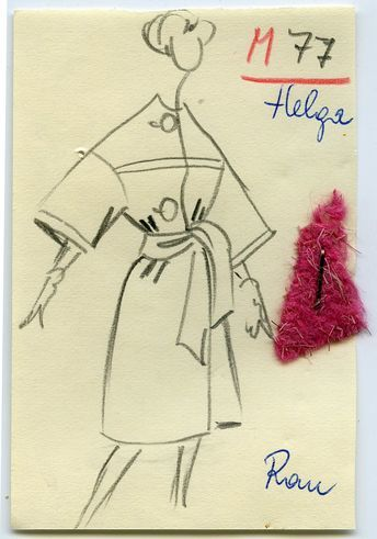 Ruth Doering: Sketch of a coat from one of the first collections of Uli Richter, 1959/1960