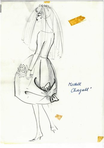 Gerd Hartung: Drawing of a Wedding Dress, 1959