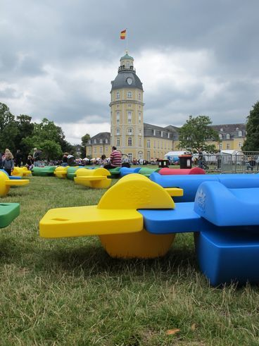 Outdoor furniture at Karlsruhe´s  Birthday
