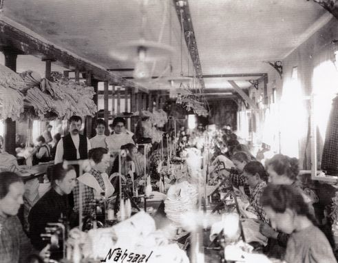Knitting room about 1900