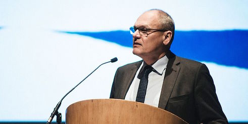 Johannes Ebert held a speech at the conference.