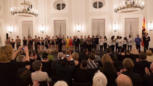 Soirée at the opening of the Dance Year 2016 at the Federal President Joachim Gauck in Bellevue Palace in Berlin