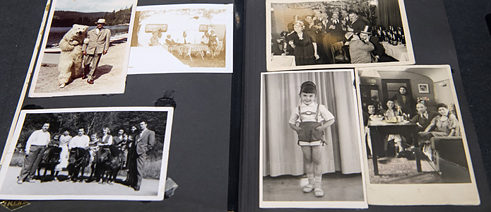 "A Sinti family's photograph album in the exhibition ""The Persecution of Sinti and Roma in Munich and Bavaria 1933 – 1945"" (October 2016)"