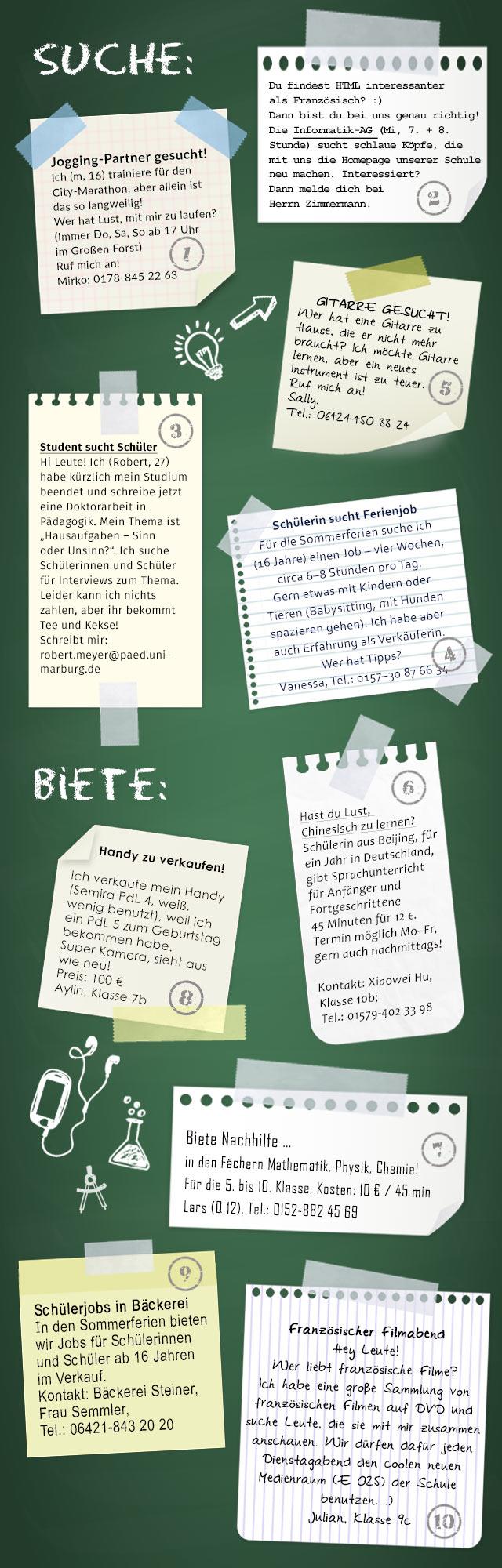 Startseite - Suche …/biete … – Anzeigen am Schwarzen Brett - Schulen ...