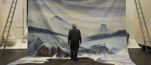 "Peter Brombacher in ""Caspar Western Friedrich"" by Philippe Quesne at Münchner Kammerspiele"