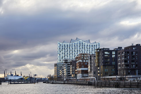 Elbphilharmonie in der Hamburger Hafen City.