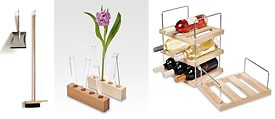 Sweep set/side by side; Wooden vase series/Fairwerk; Wine rack/Fairwerk