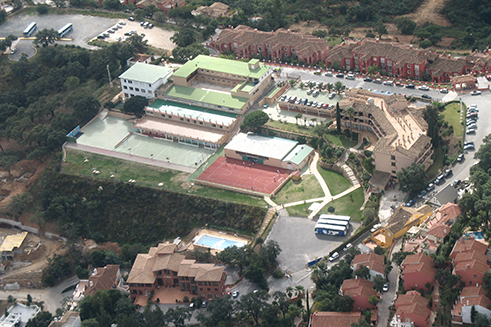 Vista aérea Colegio Alemán Málaga