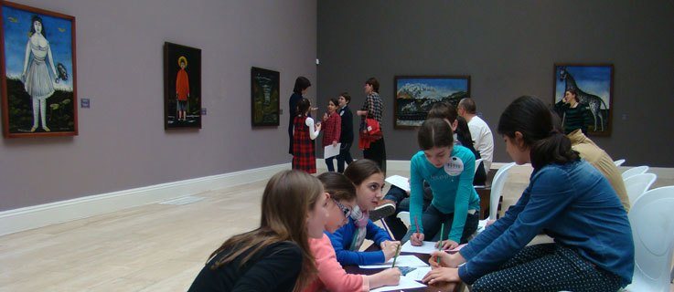 The museum can combine general knowledge with language development.