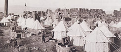 Camp of tents in Baalbek