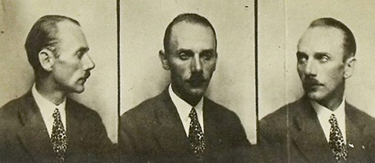 Mugshot of the impostor Walter Schmerl