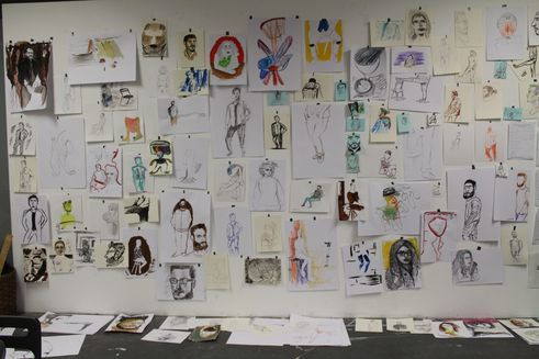 Works from the drawing class of Marina Naprushkina *foundationClass Kunsthochschule Weißensee