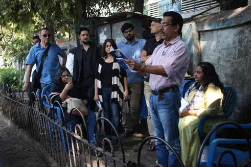 Poets at The Mumbai Tea Party - Poetry in the Streets