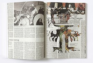"MARIANA CASTILLO DEBALL | ""NEWSPAPER WORKS"" In: SOUTH AS A STATE OF MIND #7 [DOCUMENTA 14 #2] 2016, S. 76-77."