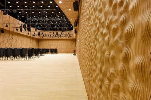 The smaller Chamber Music Hall on the 10th floor of the Elbe Philharmonic Hall