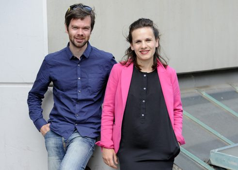 Maria Magdalena Ludewig and Martin Hammer, curators of the Wiesbaden Biennale 2016