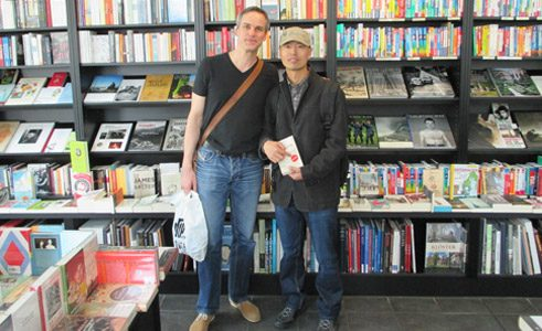 Meeting of Huang Fan with the writer Stefan Thome in Göttingen