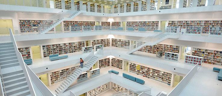 Galeria da Biblioteca Municipal de  Stuttgart
