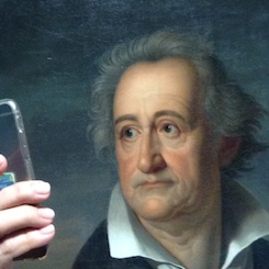 Goethe-Selfie im Wallraff-Richartz-Museum in Köln