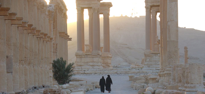 The ancient city of Palmyra in 2004.