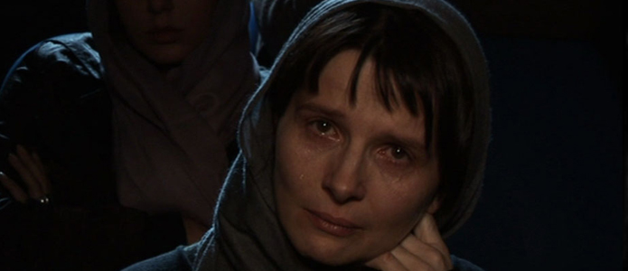 Crying in the cinema: Juliette Binoche as a silently weeping viewer in Abbas Kiarostami's Shirin (2008)