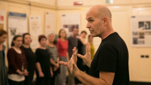Virgilio Sieni at the Workshop, Photo: Silvia Aresca
