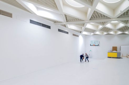 design for human nature | Large hall with basketball