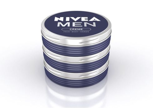 design for human nature | Nivea Men | Lata de creme como implementação do símbolo da marca