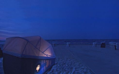 design for human nature | Tourism Initiative Schleswig Holstein | Beach chair for sleeping