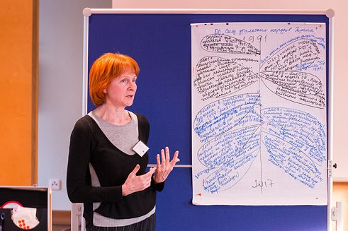 """Gemeinsam ans Ziel"". Erster Workshop. 1.-2. April 2017. Foto: Ivan Dinius/Goethe-Institut"
