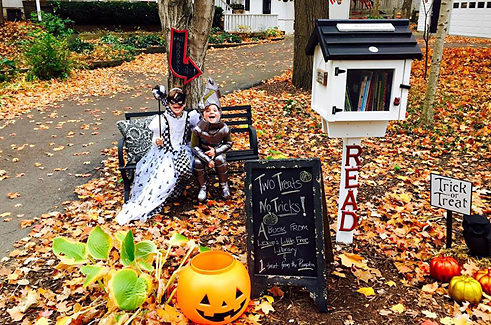 Two Treats, No Tricks! Halloween at a Little Free Library in Indiana