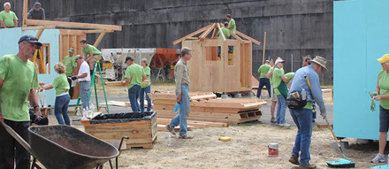 Opportunity Village was built with donated materials and labor.