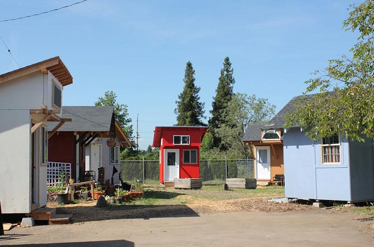 Residents pay 30 US dollars per month to live in Opportunity Village.